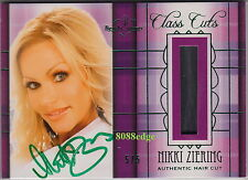 2012 BENCHWARMER CLASS CUTS AUTO: NIKKI ZIERING #5/5 AUTOGRAPH HAIR CUT DNA