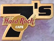 "Hard Rock Cafe STAFF Large Black ""7's"" Award PIN Customer Survey - HRC #3623"