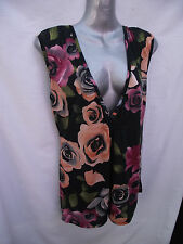 BNWT Womens Sz 10 Undercoverwear Floral Print Stretch Sleeveless Top RRP $59