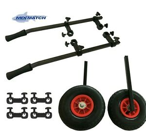 MDI Match Rickshaw Trolley System with Pneumatic Wheels for Fishing Seat Boxes