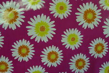 SUMMER DAZE COTTON CRAFT WIPE-ABLE OILCLOTH PVC WIPE CLEAN TABLECLOTH per metre