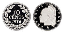 LIBERIA 10 CENTS 1976 (GEM PROOF) *ONLY 2,131 MINTED*