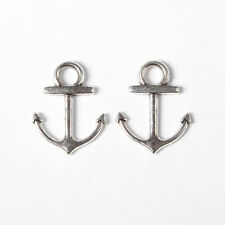 20pcs Antique Silver Alloy Anchor Pendants 19x15x2mm DIY Necklace Charm Making