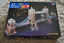 PUZZ 3D TOWER BRIDGE 819 PIECE 3D JIGSAW PUZZLE MB GAMES EXCELLENT CONDITION