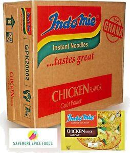 INDOMIE CHICKEN FLAVOUR NOODLES - INSTANT NOODLES - GHANA - 40 Packets X 70g BOX