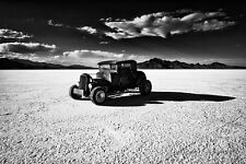 16x24 in Print 1932 Ford Coupe, Garage Art Man Cave Hotrod Bonneville Salt Flats
