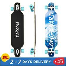 41'' Skateboard Longboard Holzboard Funboard Cruiser Komplettboard ABEC-11 Blau