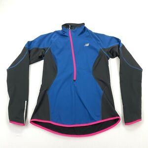 New Balance Women's Windblocker 1/2 Zip Training Shirt Colorblock Sz M