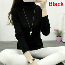 Women Turtleneck Winter Sweater Long Sleeve Knitted Sweater Pullovers Jumper Top