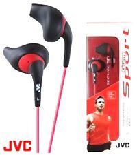 JVC HA-EN10B Cuffie Sportive In Ear-Nero/Rosso resistente al sudore-NUOVO