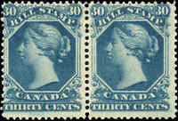 Canada Mint Pair Scott #FB29 Second Bill Issue 30c Stamps Never Hinged