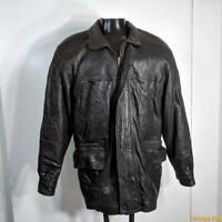 PETERBOROUGH ROW Italy Soft Lambskin Leather JACKET Mens Size S insulated