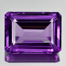 10x8mm OCTAGON-FACET LIGHT-PURPLE NATURAL BRAZILIAN AMETHYST GEMSTONE