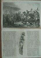 1859 RISORGIMENTO: 'LA GUERRE D'ITALIE' n.26 GRANDE INCISIONE GIUSEPPE GARIBALDI