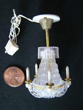 Vintage Cir-Kit Dollhouse Miniature 5 Candle Wedding Cake Chandelier