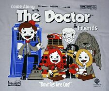 """The Doctor and Friends"" Doctor Who Album Cover Parody XL Shirt Teefury"