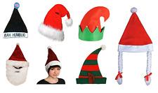 Christmas Fancy Dress Santa & Elf Hats Festive Costume Party Works Do Bah Humbug