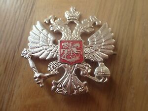 Russian Military Army Imperial Two Headed Eagle Crest Hat Pin Badge KOKARDA