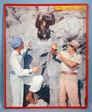 1956 Johnny Weissmuller Jungle Jim TV Photo Puzzle Movie Tarzan Olympic Swimmer