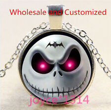 Nightmare Before Christmas Cabochon silver Glass Chain Pendant Necklace #5125