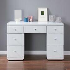Hollywood Dressing Table White Glass 7 Drawer Vanity Dresser Bedroom Modern