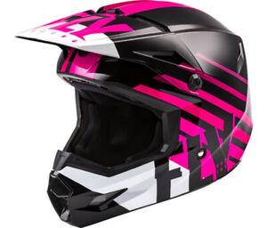 Fly Racing Thrive Moto Helmet Pink Black White Offroad Dirt ATV