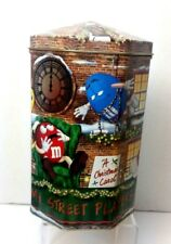 M&M CANDY TIN 2000 CHRISTMAS CAROL STREET PLAYERS DICKENS
