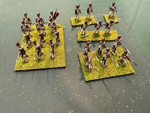 1/72 Napoleonic French Imperial Guard. Painted, based and flocked (24) figures