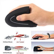 2.4G Wireless Ergonomic Optical Vertical Mouse 1600DPI & USB Receiver PC Laptop