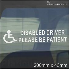1 x Disabled Driver,Please be Patient-Car Sticker-Mobility Disability Sign- 50mm