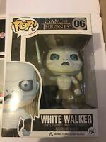 BOXED FUNKO POP VINYL GAME OF THRONES SERIES THE WHITE WALKER #06 FIGURE