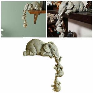 Resin Elephant Sitter Figuren Set, Elefant Figur Statuen, Handcraft Home Decor