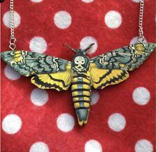 Morti Testa Moth Collana legno fatto a mano