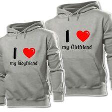 I Love My Boyfriend Girlfiend Print Sweatshirt Couple Hoodies Graphic Hoody Tops