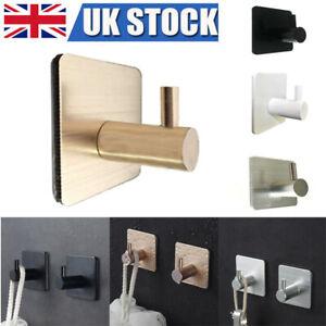 Self Adhesive Hook Wall Hanger Stick Rustproof Bathroom Kitchen Door Hooks