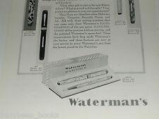 1929 Watermans advertisement, Watermans Fountain Pen Patrician set