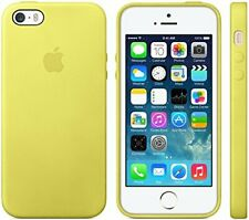 Genuine Apple Leather Case Cover For Apple iPhone 5/ 5S/ iPHONE SE  - Yellow