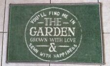 You'll Find Me In The Garden Door Mat Green Machine Washable