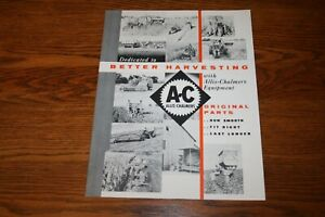 Allis Chalmers Better Harvesting with AC EquipmentSales Brochure
