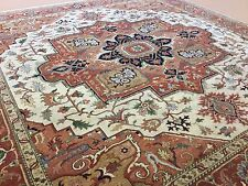 """Persian Oriental Rug Square Serapi Hand Knotted Wool Beige Rust 9'.10"""" X 10'.0"""""""
