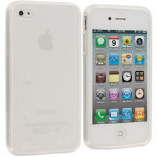 Clear Frost TPU Rubber Gel Skin Case Cover Accessory for Apple iPhone 4S 4G 4