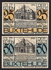 Altona / Buxtehude -Altonaer Bankverein- 25 Pf. u. 50 Pf. bis 1.10.1921 Rathaus
