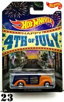 HOT WHEELS HAPPY 4TH OF JULY '37 FORD WOODIE #6/6