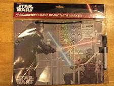 NEW~STAR WARS Hanging Dry Erase Board with Marker Darth Vader & Luke Skywalker