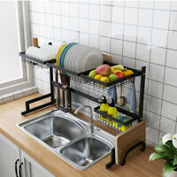 Stainless Steel Sink Drain Rack Kitchen Shelf Dish Cutlery Drying Drainer Holder