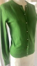 J.Crew Crystal Button Cardigan Sweater Green Wool Cashmere Style 89474 Sz Small