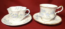 Shelley Blue Rock Dainty & Paragon Remember Me ForgetMeNot Coffee Cup & Saucer