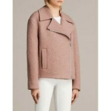 All Saints Spitalfields Remi Boucle Wool  Pink Jacket Coat XS New with tags