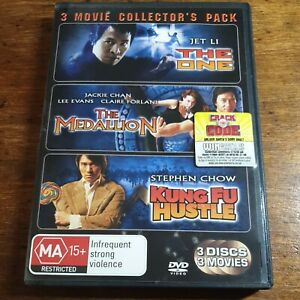 The One + The Medallion + Kung Fu Hustle Triple DVD R4 LIKE NEW FREE POST