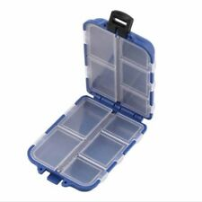 Boîte de Stockage Rangement pour Leurre Appât de pêche Tackle + 10 compartiments